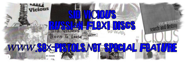 Sid Vicious Russian Flexi Disc Singles